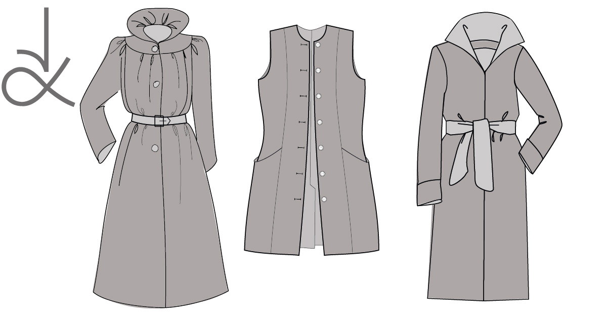 Angela Kane sewing patterns - Coats