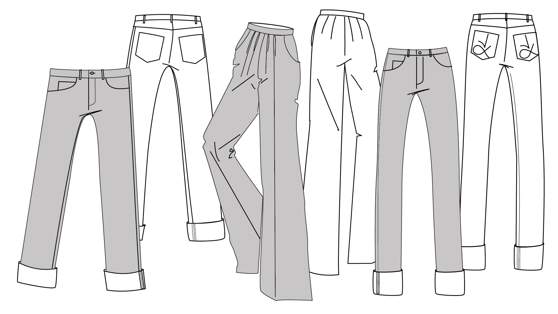 Angela Kane sewing patterns - three jeans and trousers PDF sewing patterns