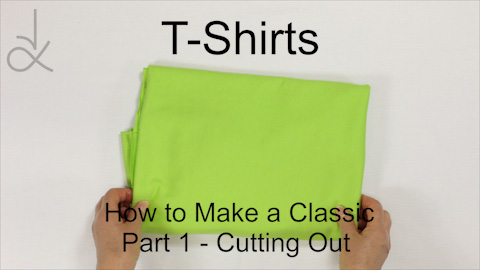 Poster Picture for the Sewing Video, How to Make T-Shirts