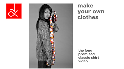 Poster Picture for the Sewing Video, How to Make a Classic Silk shirt