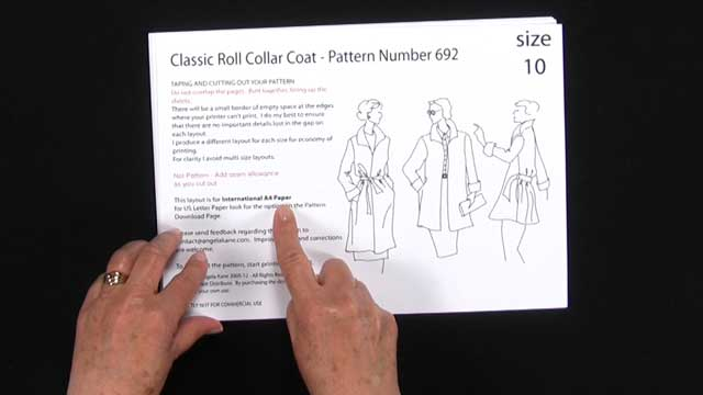 Poster picture for the Sewing Video, How to Sew the Roll Collar Coat