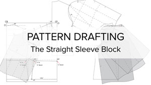 Poster picture for Flat Pattern Drafting Sewing Video, The Straight Sleeve Block