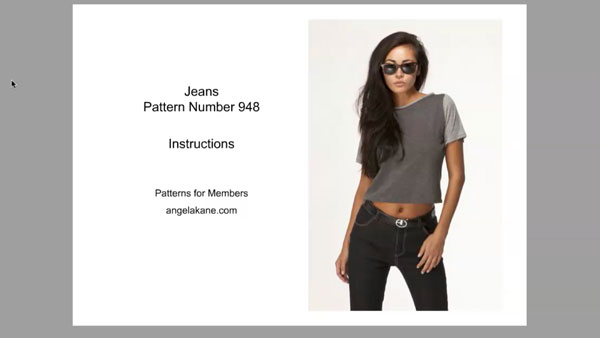 ebook about sewing jeans