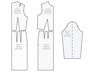 sewing patterns blocks for pattern drafting