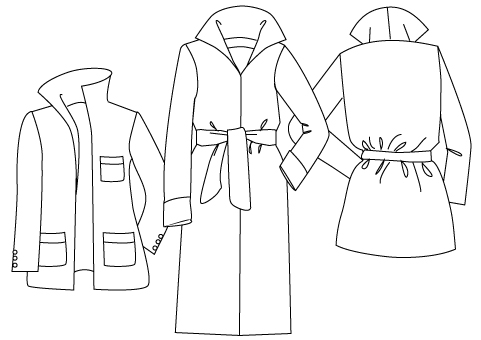 Roll Collar Coat Pdf Sewing Pattern By Angela Kane