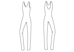 Sewing Pattern - Jersey All-in-one Body - PDF Sewing Pattern by Angela Kane
