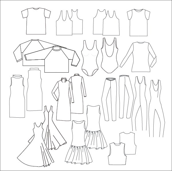 Jersey PDF Sew Pattern Collection links to Sewing Patterns at a Glance