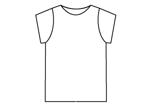 Sewing Patterns - Slim Fit, Short Sleeved T-Shirt PDF Sewing Pattern by Angela Kane